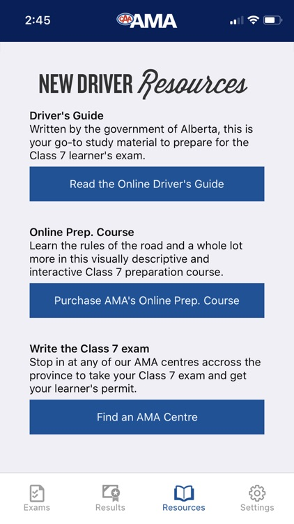 AMA Practice Exam by Alberta Motor Association