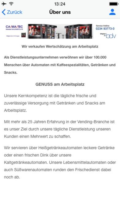 Camatec Automaten-Service GmbHScreenshot von 3