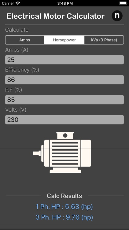 Electrical Motor Calculator screenshot-3