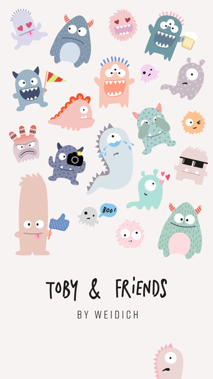 Toby & Friends Stickies
