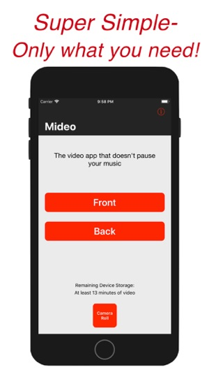 Mideo: Video + Listen to Music Screenshot