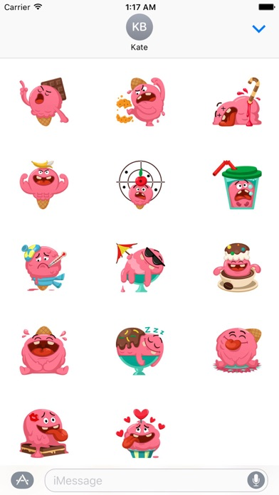 Ice Cream Emoji Sticker screenshot 2