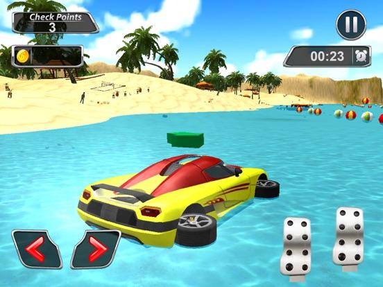 Игра плавучий вода Автомобиль трюк