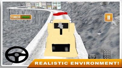 Snow Truck Drving 3D screenshot one