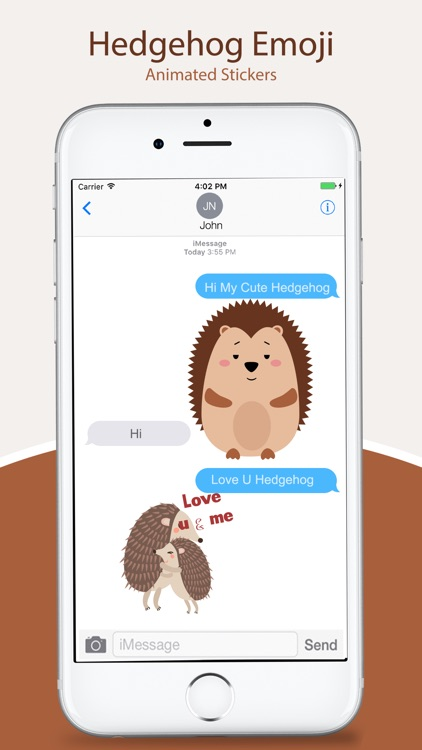 Animated HEDGEHOG Stickers Pack screenshot-3