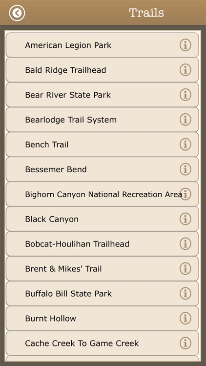 Wyoming Trails & Camps,Parks screenshot-3