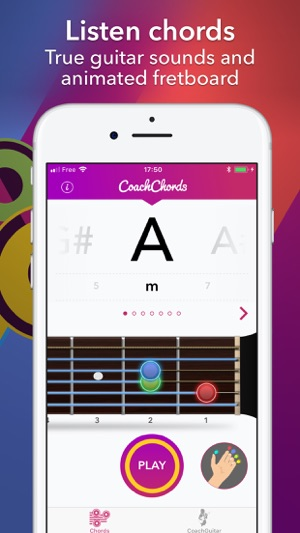 Coach Chords guitar with chart on the App Store