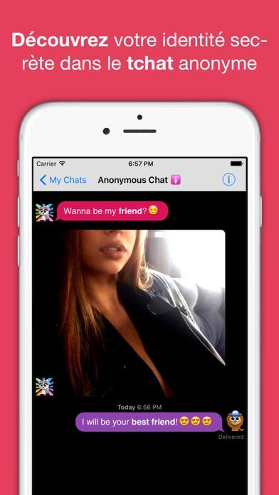 Screenshot #1 pour Tchat anonyme & rencontres app