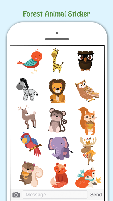 Forest Life Lovely Stickers Pack screenshot two
