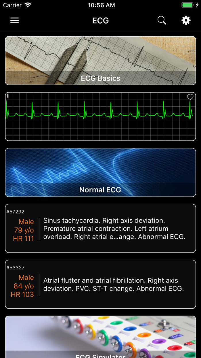 ECG - Cases for CME & EMT Screenshot