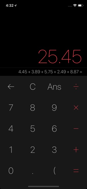 Myriad Calculator Screenshot