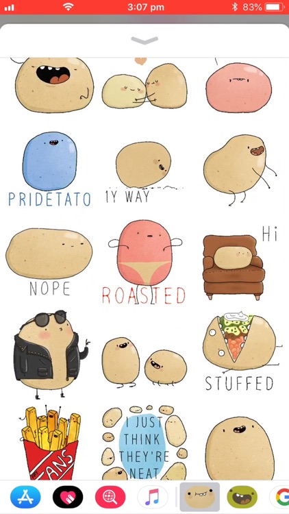 Potato Sticker Pack screenshot-1