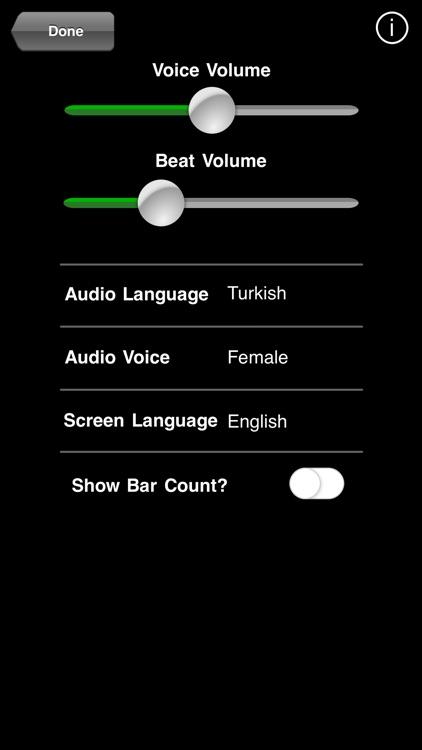 BeatSpeak Metronome Entry
