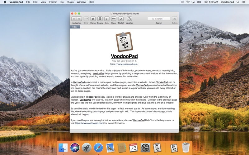 记事本工具 Voodoopad 5  for Mac
