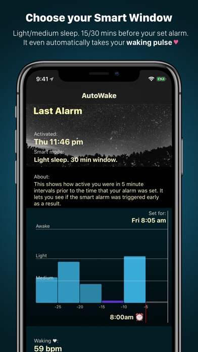 AutoWake. Smart Sleep Alarm Screenshot 3