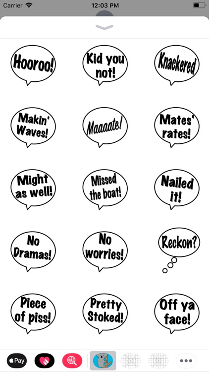 Aussie As Stickers!
