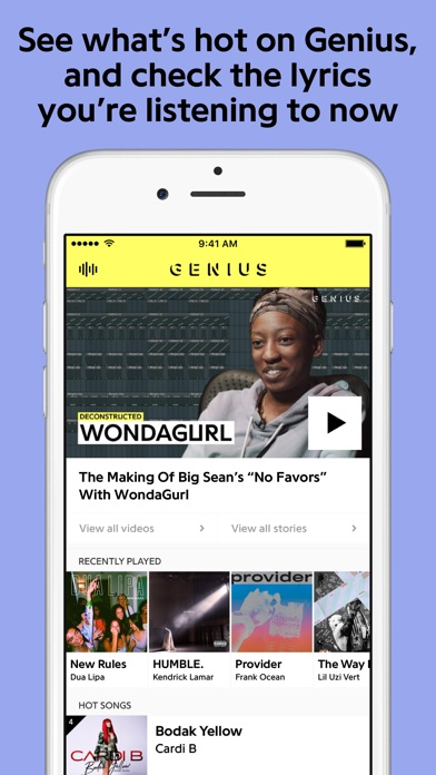 Genius: Song Lyrics & More Screenshot on iOS