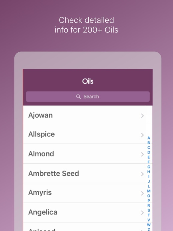 Screenshot #2 for Essential Oils Reference Guide