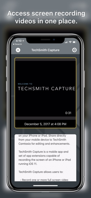 Techsmith capture on the app store ccuart
