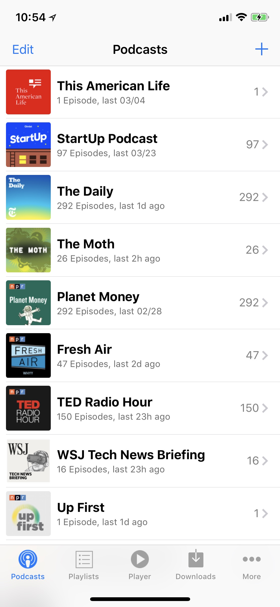 Screenshot do app PodCruncher Podcast Player