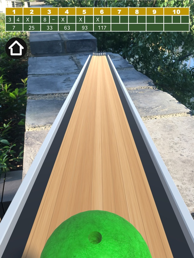 AR Bowling Game Screenshot