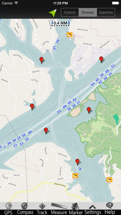 Old Hickory Lake GPS Charts screenshot-3