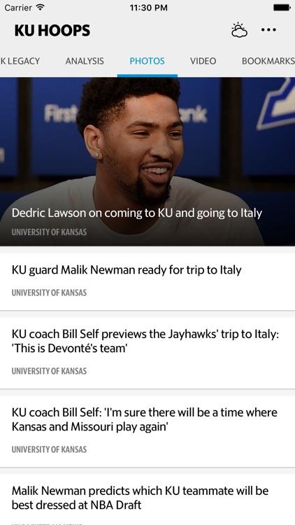 KU Hoops–Jayhawks Basketball screenshot-3
