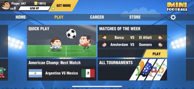 Mini Football Head Soccer On The App Store