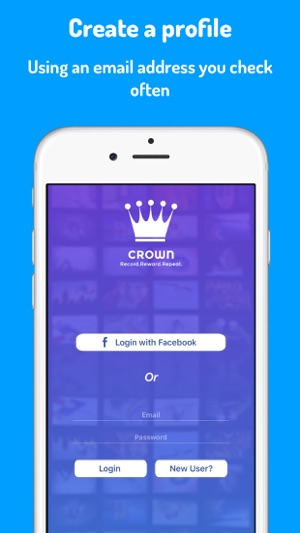 Crown- Upload 20 Second Videos Screenshot