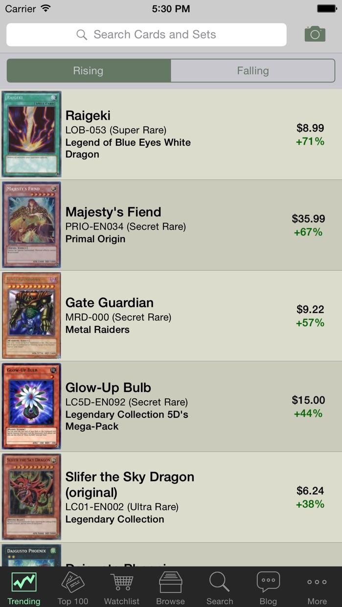 Card Prices: Yu-Gi-Oh Edition Screenshot