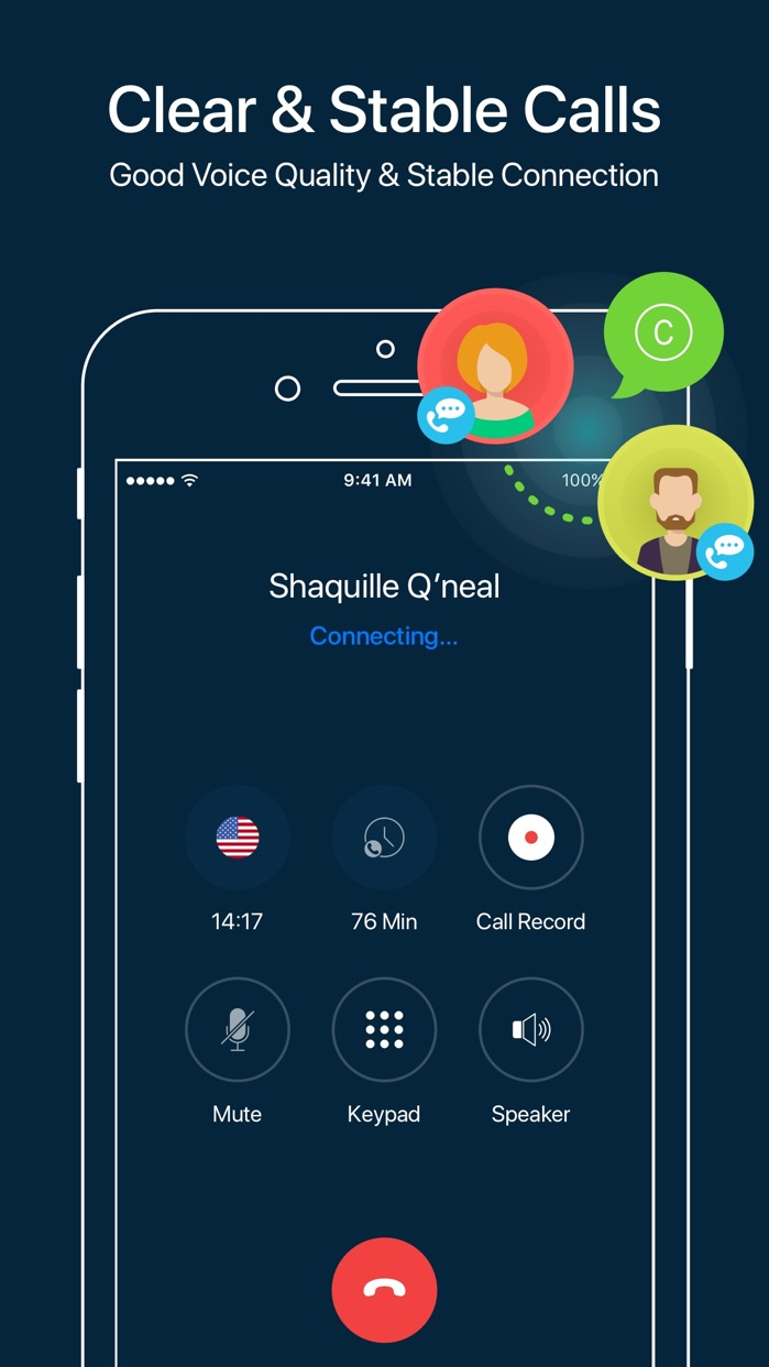 WhatsCall-Calling App+Recorder Screenshot