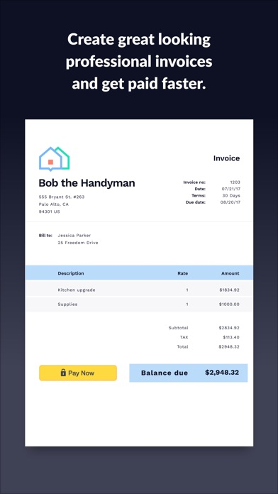 Invoice 2go Invoice & Estimate screenshot