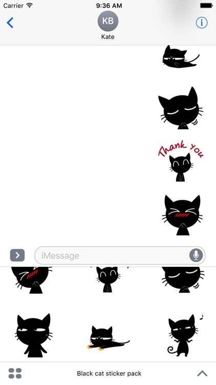 Black cat sticker pack