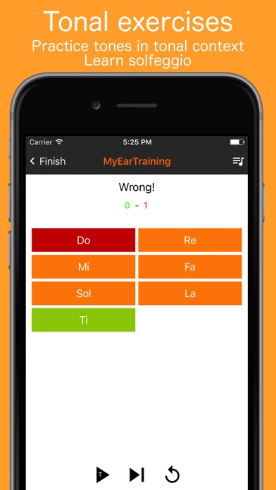 MyEarTraining Screenshot on iOS