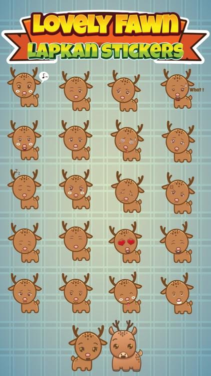 Sticker Me Lovely Fawn screenshot-3