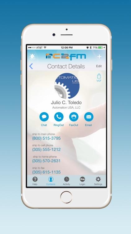 RC2FM Contacts screenshot-4
