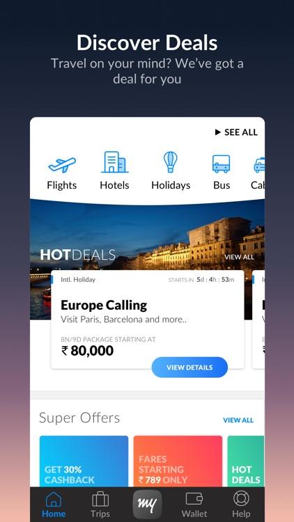 MakeMyTrip - Flights, Hotels screenshot-0