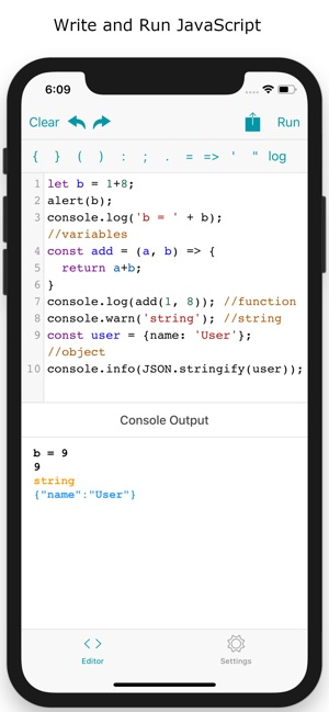 JavaScript Coding, Programming on the App Store