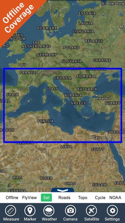 Mediterranean Sea GPS Charts screenshot-7