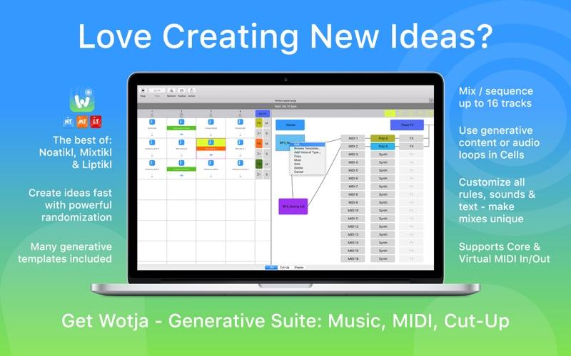 Wotja: Generative Suite скриншот программы 1