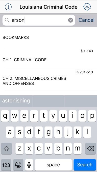 LA Criminal Code 2018 App Report on Mobile Action - App