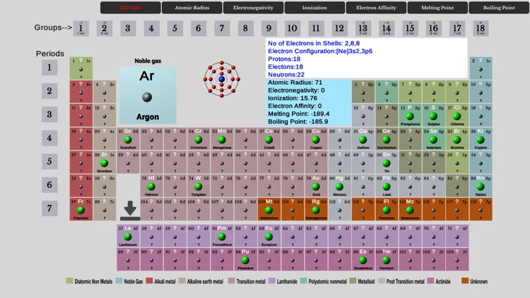 Element Fill Periodic Table screenshot-0
