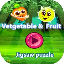 Jigsaw fruit vegetable green