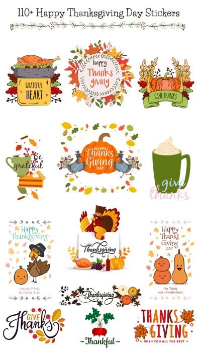 Happy Thanksgiving Day Sticker screenshot 1
