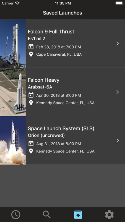 Liftoff: Launch Schedule