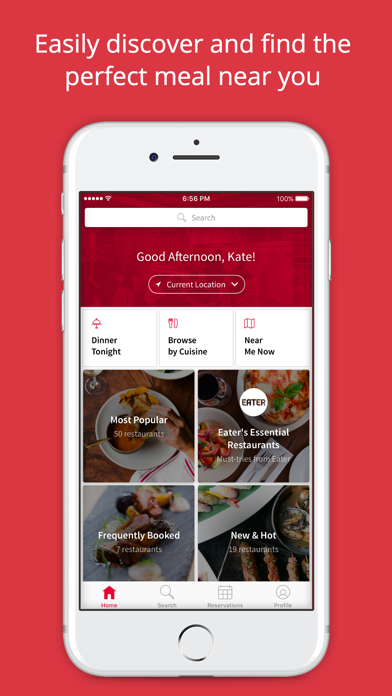 Screenshot 0 for OpenTable's iPhone app'