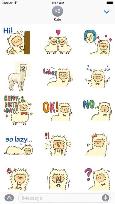 Couple Alpaca in Love Sticker screenshot 1