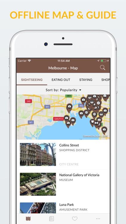 Melbourne Offline Map & Guide screenshot-0
