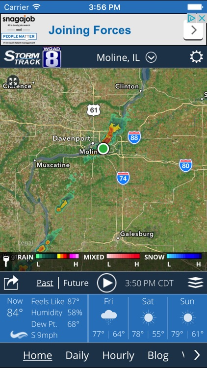 WQAD Storm Track 8 Weather screenshot-0