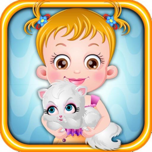 可爱榛果宝贝与淘气小猫